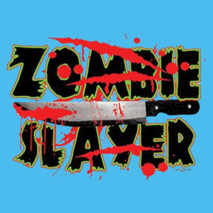 Zombie Slayer - Ladies Tri-Blend Racerback Tank Design