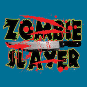 Zombie Slayer - Ladies V-Neck T Design
