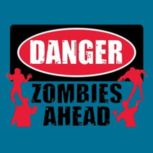 Zombies Ahead - Ladies V-Neck T Design