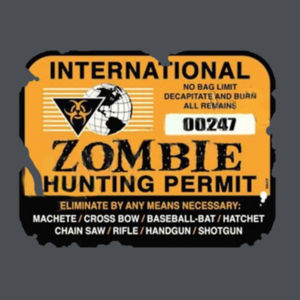 Zombie Hunting Permit - Ladies Perfect Blend T Design
