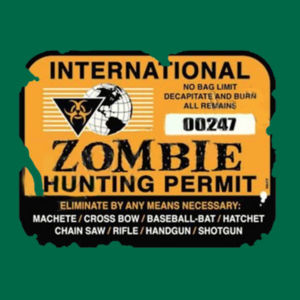 Zombie Hunting Permit - Adult Fan Favorite Hooded Sweatshirt Design
