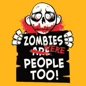 Zombies Were People - Youth Fan Favorite T Design