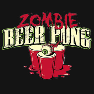 Zombie Beer Pong - Ladies Perfect Blend T Design