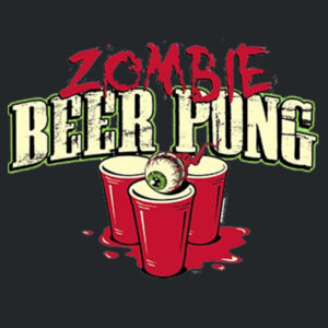 Zombie Beer Pong - Ladies V-Neck T Design