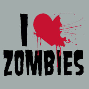 I Love Zombies - Adult Fan Favorite Hooded Sweatshirt Design
