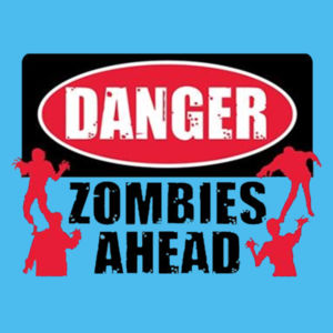 Zombies Ahead - Ladies Tri-Blend Racerback Tank Design