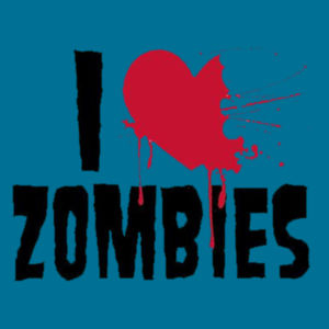 I Love Zombies - Ladies V-Neck T Design