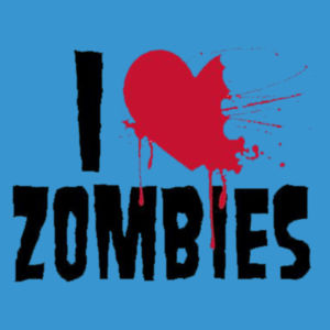 I Love Zombies - Adult Premium Blend T Design