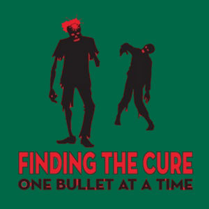 Finding The Cure - Ladies V-Neck T Design
