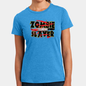 Zombie Slayer - Ladies Perfect Blend T Thumbnail
