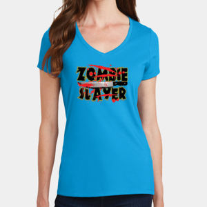 Zombie Slayer - Ladies V-Neck T Thumbnail