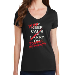 Keep Calm - Ladies V-Neck T Thumbnail