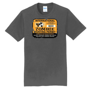 Zombie Hunting Permit - Adult Fan Favorite T Thumbnail