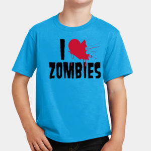 I Love Zombies - Youth Fan Favorite T Thumbnail