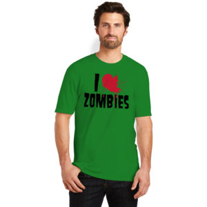 I Love Zombies - Adult Fan Favorite T Thumbnail