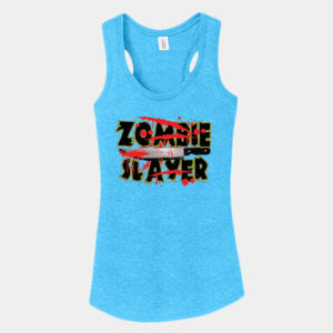Zombie Slayer - Ladies Tri-Blend Racerback Tank Thumbnail