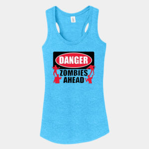 Zombies Ahead - Ladies Tri-Blend Racerback Tank Thumbnail