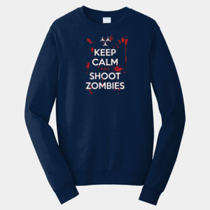 Keep Calm and Shoot - Adult Fan Favorite Crew Sweatshirt Thumbnail