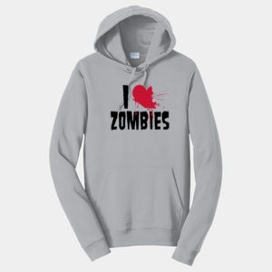 I Love Zombies - Adult Fan Favorite Hooded Sweatshirt Thumbnail