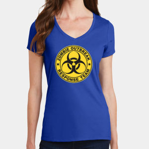 Zombie Response Team - Ladies V-Neck T Thumbnail